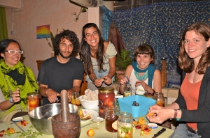 Students practicing Fermentation at a course In Portugal, 2011 Photo Credit: Eva Wimmer
