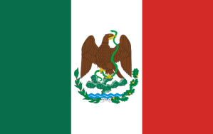 Mexican Flag with Eagle and snake