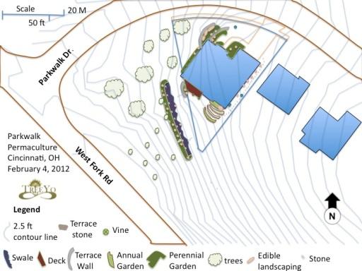 Permaculture suburban landscape design- Cincinnati, Ohio, USA
