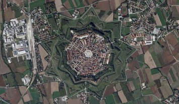 urban planning, Palmanova, Italy, design by Vincenzo Scamozzi
