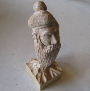Bill Currey bearded man carving 2010
