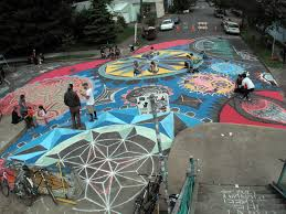 Intersection Repair in Portland in action