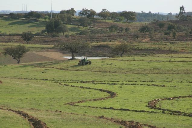 Field application of key line plough, Alentejo, Portugal 2015