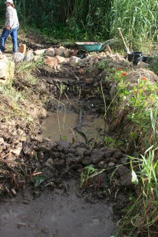 New stream gabion from summer 2015