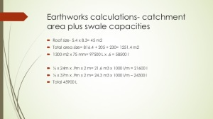 Earthworks capacity calculations corresponding runoff with earthworks size limits
